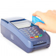 Paying with credit card — Stock Photo