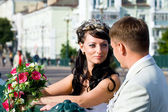 Bride and bridegroom — Stock Photo