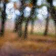 Rain drops on window — Stock Photo