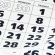 Close up of calendar page — Stock Photo