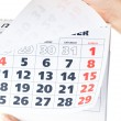 Royalty-Free Stock Photo: Close up of calendar in hands