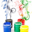 Colorful paints — Stock Photo