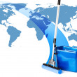 Mop and bucket - Stock Photo