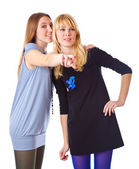 Two laugh teenage girls — Stock Photo