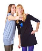 śmiech dwóch nastolatek — Zdjęcie stockowe