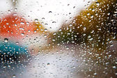 Rain drops on window — Fotografia Stock