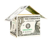 House made from dollars — Stock Photo