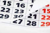 Detail stránky kalendáře — Stock fotografie