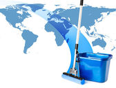 Mop and bucket — Stock Photo