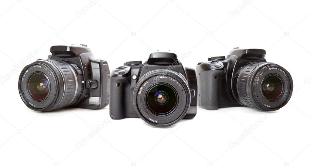 Modern digital camera. Isolated on white background — Stockfoto #1289088