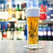 Beer in glass — Stock Photo