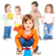 Group of little children — Stock Photo