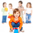 Group of little children - Stock Photo