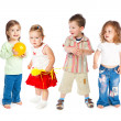 Stockfoto: Group of little children