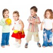 Stock Photo: Group of little children