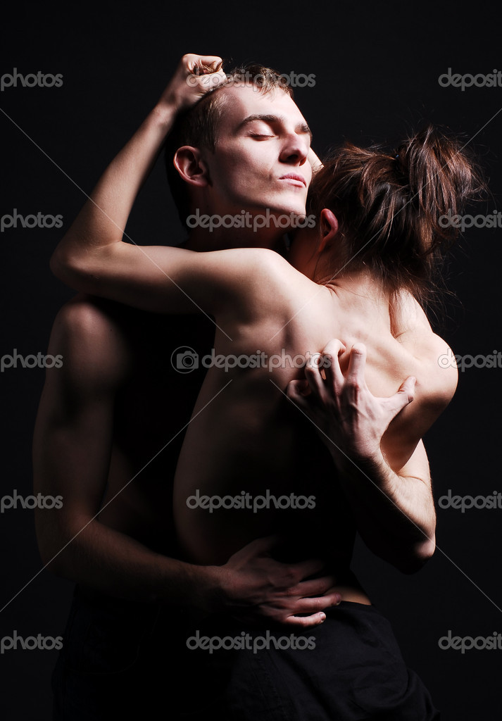 Passion couple in dark — Foto Stock #1168542