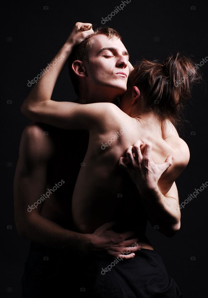 Passion couple in dark — Foto de Stock   #1168542