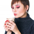 Woman have a cofee-break — Stock Photo