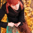 Autumn woman's portrait — Photo