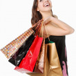Happy woman on shopping - Stock Photo
