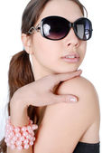 Happy woman in sunglasses — Stock Photo