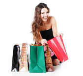 Woman on shopping — Stock Photo