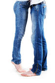 Couple in jeans — Stock Photo