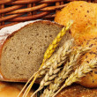 Fresh bread with wheat — Stock Photo