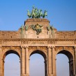 Triumphal arch in Brussels - Stock Photo