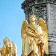 Two angels from statue of the Virgin Mar — Stock Photo
