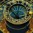 Famous astronimical clock - Stock Photo