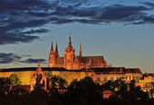 Night view on Prague Castle — Stock Photo