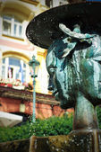 Fountain in Karlovy Vary — Stock Photo