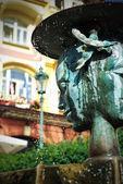 Fountain in Karlovy Vary — Stock Photo