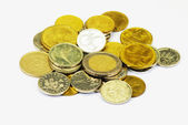 A pile of various coins — Stock Photo
