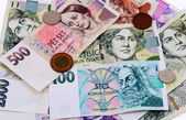 Czech money — Stockfoto