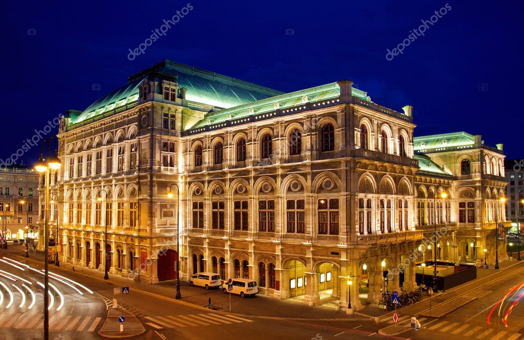 Vienna's State Opera House at night, Austria  Stock Photo #1167382
