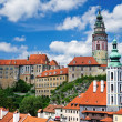 Summer panorama of Cesky Krumlov — Stock Photo