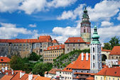 Summer panorama of Cesky Krumlov — Stockfoto
