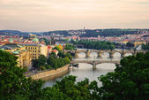 Karlsbrücke in prag — Stockfoto