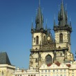 Ancient gothic cathedral in Prague — Stock Photo