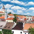 Stock Photo: PanoramCesky Krumlov. Czech Republic