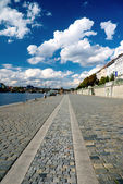 Wharf in Prague — Stock Photo