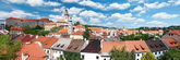 Panorama Cesky Krumlov. Czech Republic — Stock Photo
