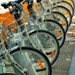 Foto Stock: Bicycles Parked in Brussels
