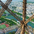 Foto Stock: Lifting up Eiffel Tower
