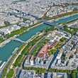 Aerial view of Paris — Stock Photo #1242864