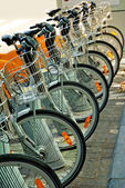 Bicycles Parked in Brussels — Stock Photo