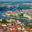 View of city and river Vltava in Prague — Stok fotoğraf