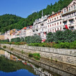 Landscape city center in Karlovy Vary — Stock Photo